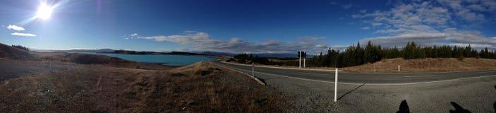Lago blu Pukaki Fotografia Stock