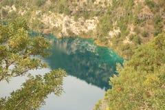 Lago blue del ` s di Gambier del supporto immagine stock libera da diritti