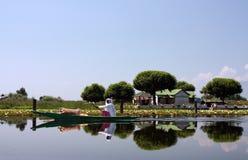 Lago boat Immagine Stock