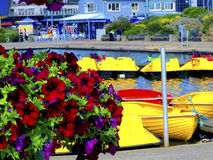 Lago boating, Skegness, Lincolnshire. Imagens de Stock Royalty Free
