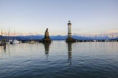 Lago Bodensee em Lindau, Baviera Fotografia de Stock Royalty Free