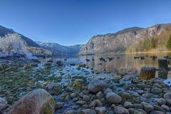Lago Bohinj Imagen de archivo libre de regalías