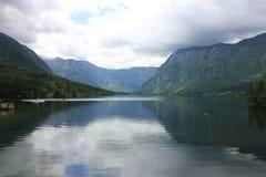 Lago Bohinj Foto de archivo libre de regalías