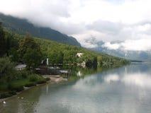 Lago Bohinj Imagenes de archivo