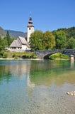 Lago Bohinj, alpi di Julian, Slovenia Immagine Stock Libera da Diritti