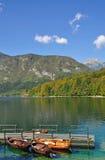 Lago Bohinj, alpi di Julian, Slovenia Fotografia Stock