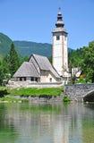 Lago Bohinj, alpi di Julian, Slovenia Immagini Stock Libere da Diritti