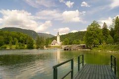 Lago Bohinj, alpi di Julian, Slovenia Fotografia Stock Libera da Diritti