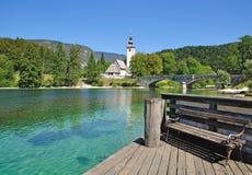 Lago Bohinj, alpi di Lulian, Slovenia, Immagine Stock