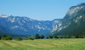 Lago Bohinj da Stara Fuzina Immagine Stock Libera da Diritti