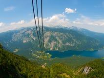 Lago Bohinj e montagna di Triglav Immagine Stock Libera da Diritti