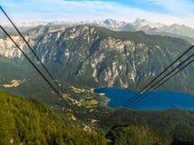 Lago Bohinj e montagna di Triglav Immagine Stock
