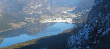 Lago Bohinj em Slovenia, panorama Imagens de Stock Royalty Free
