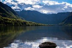 Lago Bohinj, Eslovênia, Europa Imagem de Stock
