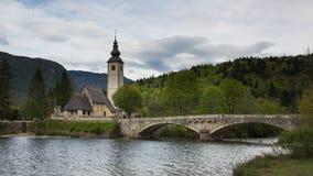 Lago Bohinj, Eslovênia, Europa Fotos de Stock Royalty Free