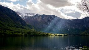 Lago Bohinj, Eslovênia, Europa Foto de Stock Royalty Free