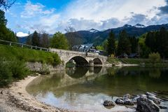 Lago Bohinj, Eslovênia, Europa Imagens de Stock
