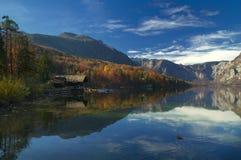 Lago Bohinj, Eslovenia - opinión del otoño Fotografía de archivo libre de regalías