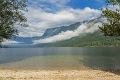 Lago Bohinj, Eslovênia Fotos de Stock Royalty Free