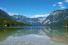 Lago Bohinj, parco nazionale di Triglav, Slovenia, alpi Fotografie Stock Libere da Diritti