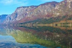 Lago Bohinj in Slovenia Fotografie Stock Libere da Diritti