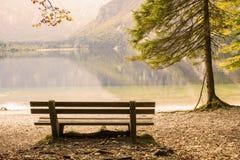 Lago Bohinj, Slovenia fotografie stock libere da diritti