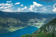 Lago Bohnij en Eslovenia Foto de archivo libre de regalías