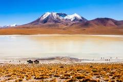 Lago, Bolivia Altiplano Imagenes de archivo