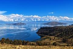 Lago Bolivia Titicaca Fotografie Stock Libere da Diritti