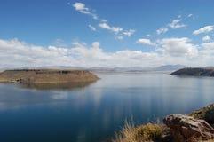 Lago boliviano extenso Foto de archivo libre de regalías