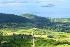 Lago Bolsena de Montefiascone Imagens de Stock Royalty Free