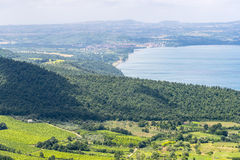 Lago Bolsena de Montefiascone Fotografia de Stock