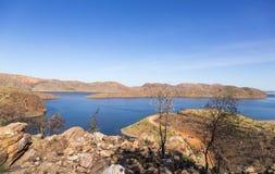 Lago bonito Argyle na Austrália Ocidental fotografia de stock royalty free