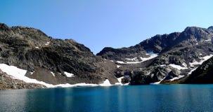 Lago bonito da montanha em Pitztal, Áustria fotografia de stock