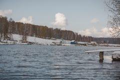 Lago bonito do inverno Imagem de Stock