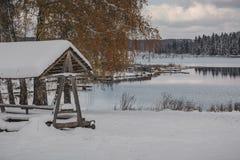 Lago bonito do inverno Foto de Stock