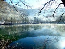 Lago bonito do inverno Imagens de Stock Royalty Free