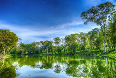 Lago bonito e calmo Foto de Stock Royalty Free