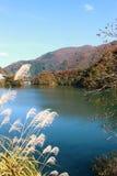 Lago bonito em Gokayama Japão Fotos de Stock