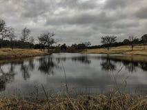 Lago bonito em um dia nebuloso foto de stock royalty free