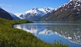 Lago bonito Portage fotografia de stock