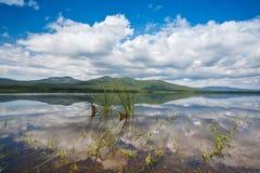 Lago bonito Primorye do russo foto de stock royalty free