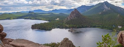 Lago Borovoe en Kazajistán Fotografía de archivo