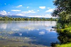 Lago Bovan en Serbia Imagenes de archivo