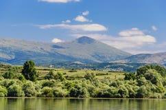 Lago Bovan en Serbia Foto de archivo
