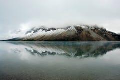 Lago bow en augusto Imágenes de archivo libres de regalías