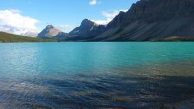 Lago bow en Banff, Alberta, Canadá fotografía de archivo libre de regalías