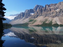 Lago bow a Jasper National Park Fotografie Stock