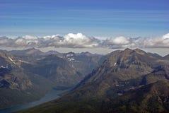 Lago bowman nella sosta del ghiacciaio immagine stock libera da diritti