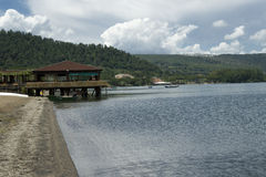 Lago Bracciano, Lazio, Italia Foto de archivo
